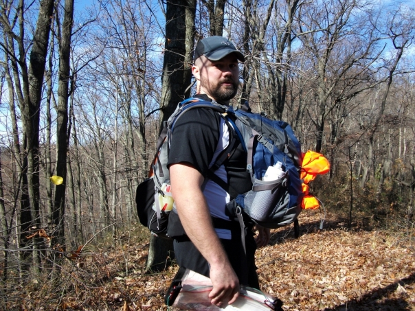 Luke Carrying two packs at the Sleepy Hollow Rogaine