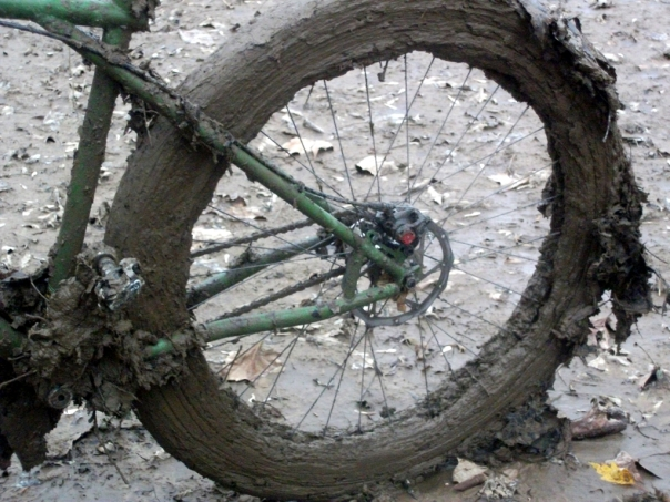 Mud Covered Wheel