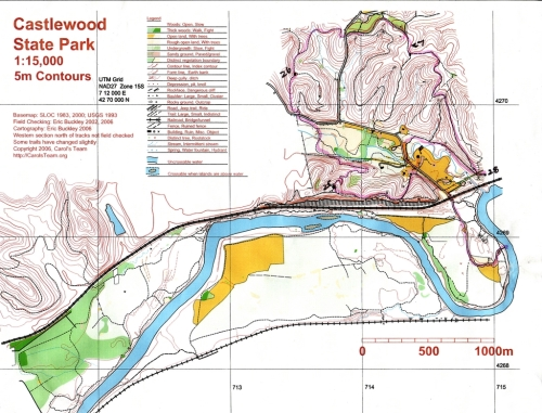 Mt. Bike Castlewood Map