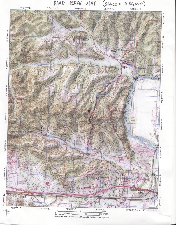 Mt. Bike Road Map for Castlewood 8 Hour
