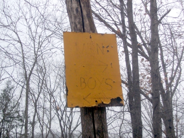 Men/Boys sign at Bittersweet