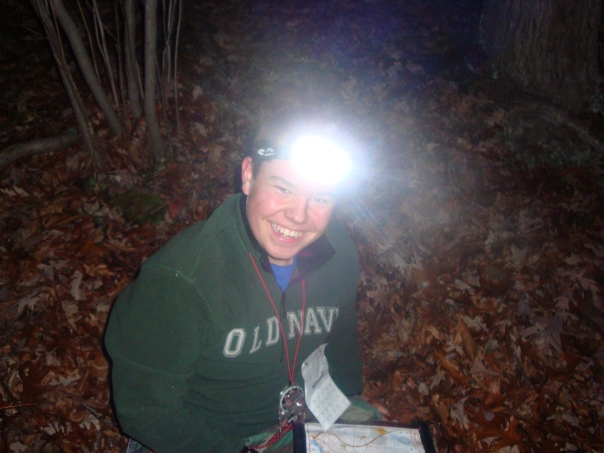 Austin Having Fun Orienteering at Night