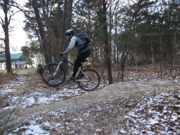 Casey jumping his Kona King Kahuna 29er