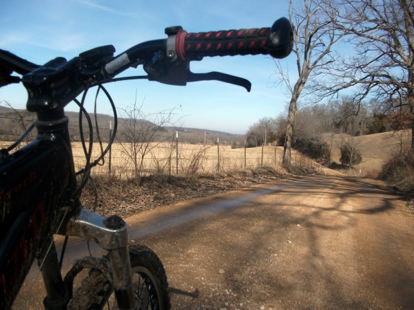 Joe Dirt Gravel Road Ride View with Bike