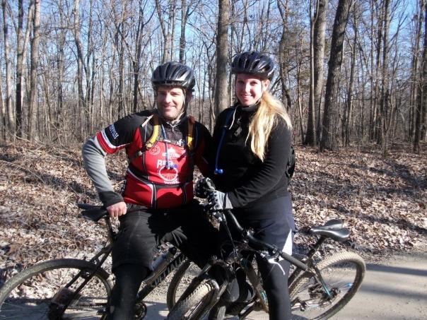 Bob and Cara at the Joe Dirt Ride
