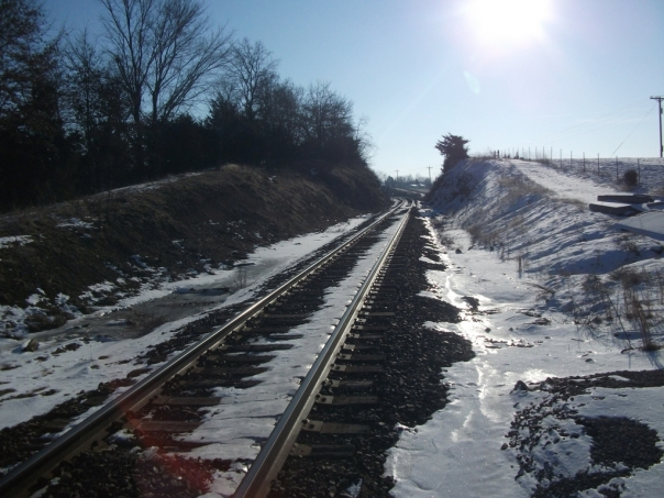 Frozen Train Tracks