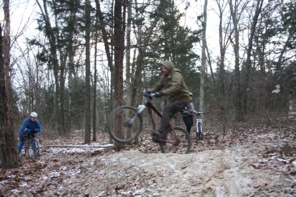 Bora jumping his bike