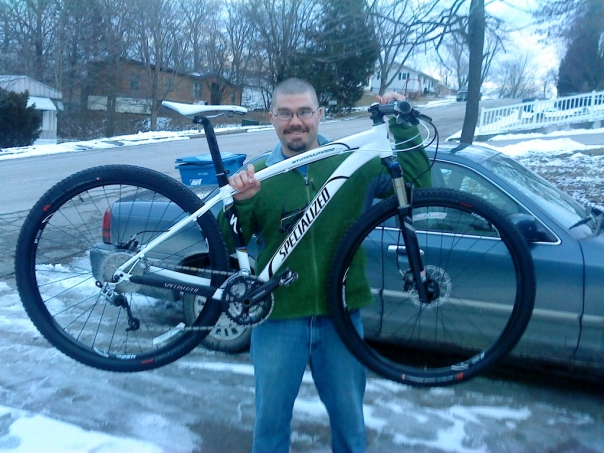 Luke with his new '10 Stumpy 29er