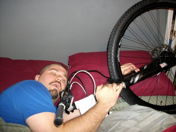 Bike in Bed