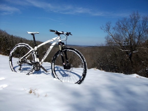 Mountain Bike in the Snow