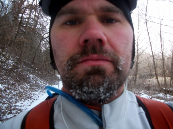 Ice Beard on the Katy Trail