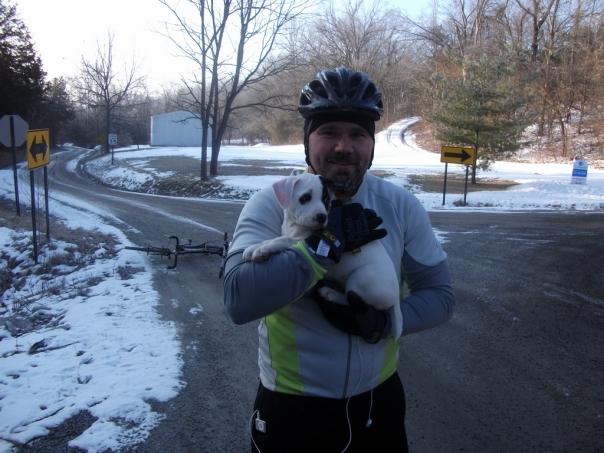 Luke with Puppy