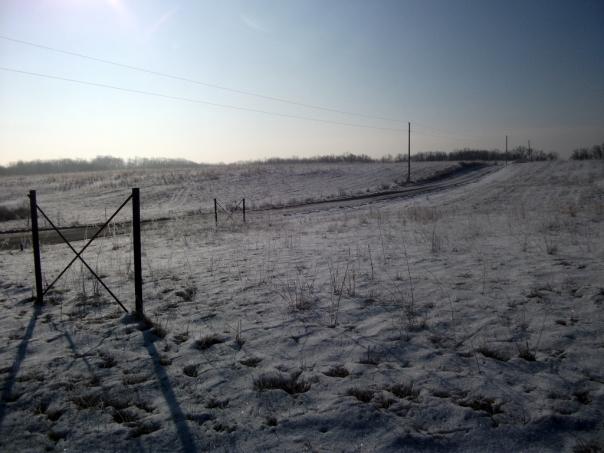 Biking on icy gravel roads