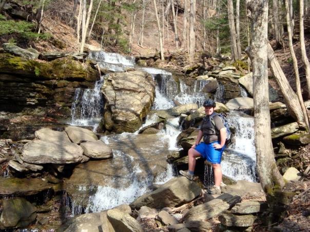 Waterfall along the Pine Creek Trail, PA