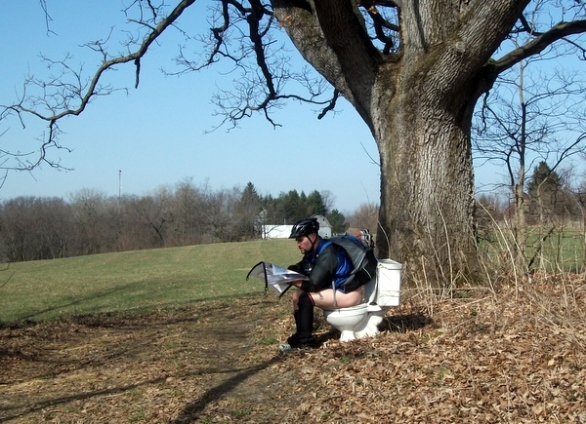 pooping at an adventure race