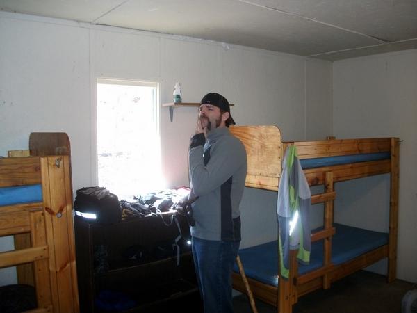 Bob in the Cabin at Camp Benson