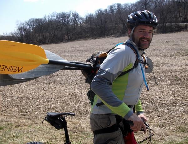 Biking with Paddles at LSAR