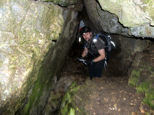 Cave Checkpoint at the Lightning Strikes Adventure Race