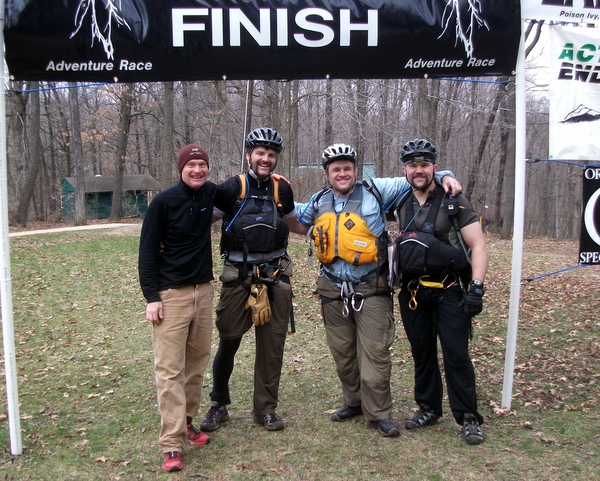 Finishing the Lightning Strikes Adventure Race