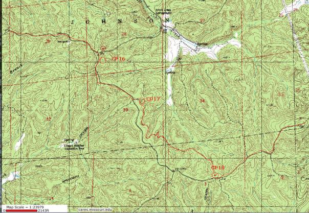 Berryman Adventure 36 Hour bike 2 part 2 Map