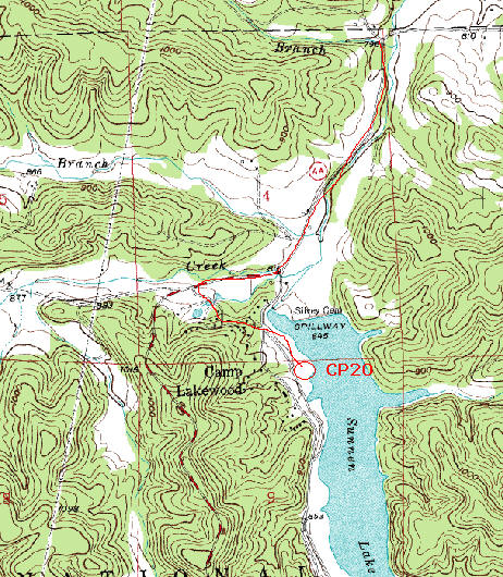Map for bike 2 part 5 for the Berryman Adventure Race 2010