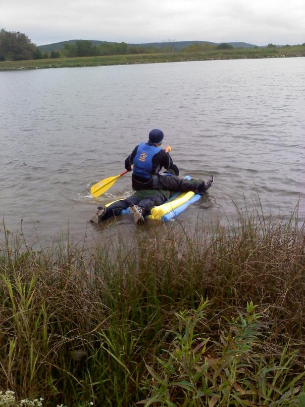 Noodle Raft Mystery Event at the Berryman Adventure Race