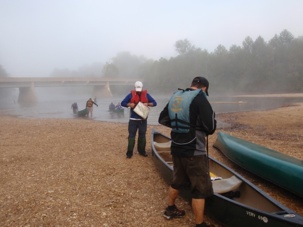 Canoe Take-Out at the Berryman AR