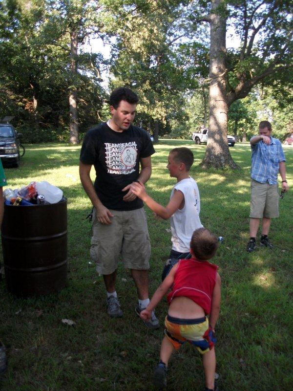 Casey Ryback with Jackson and Eli