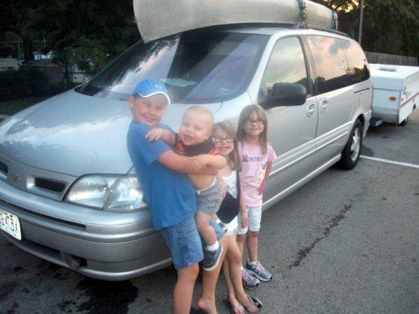 loaded van