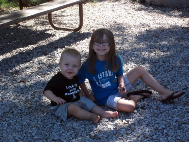 Otis and Della Camping at Clinton State Park