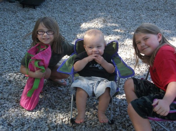 Mabel, Ote, and Lyd Camping