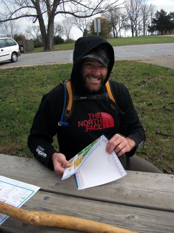 Bob with O-map at Rock Bridge
