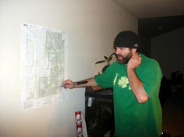Bob doing mapwork