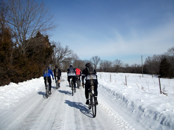 Group Ride on Snow and Ice