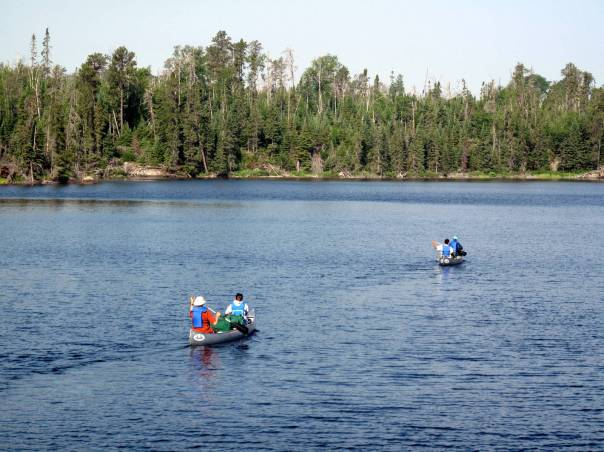 canoeing at the Boundary Waters Canoe Area