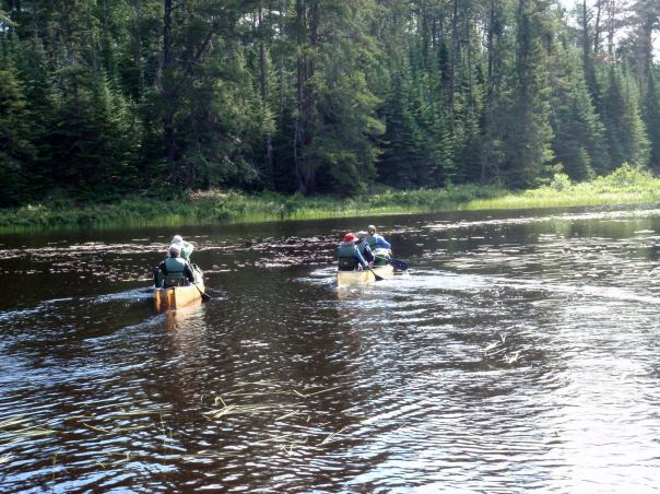 Golden Girls Paddling the Boundary Waters Canoe Area