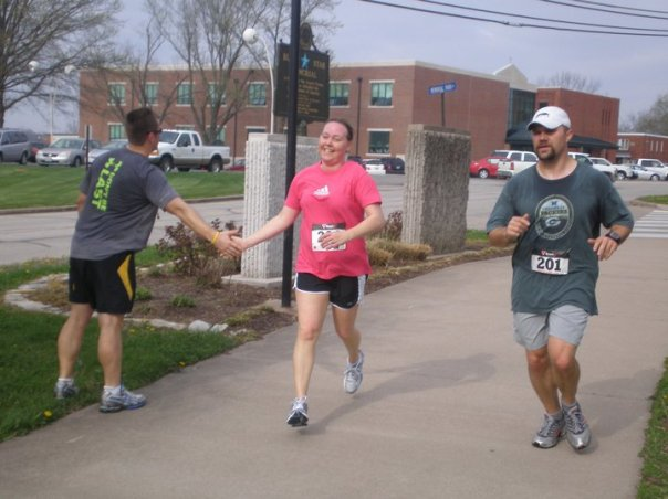 Becca finishing the Ava Brown 5K