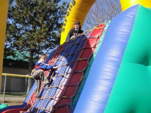 Colton on obstacle course