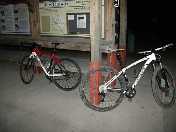 Bikes on the Katy Trail