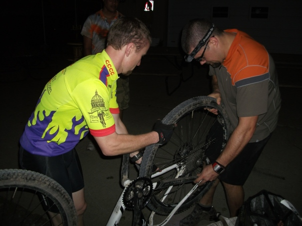 Changing Tire on the Katy Trail