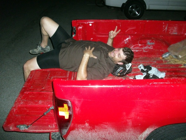 Bob resting in truck