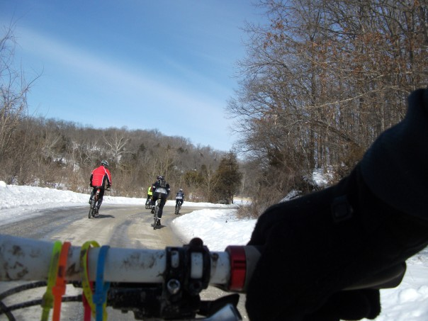 Group Ride in the Snow