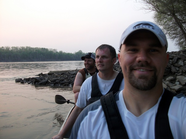 Paddling on the Missouri River
