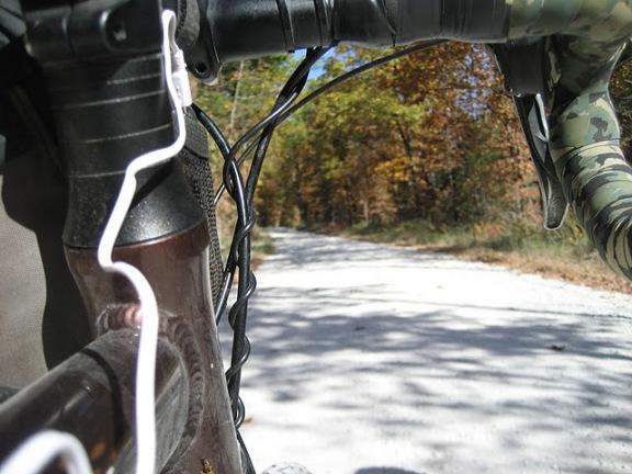 Cross Bike on a Gravel Road