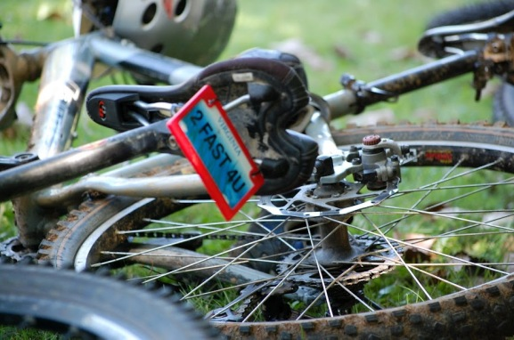 License Plate on Mountain Bike