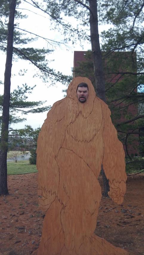 Sasquatch on SIUE campus