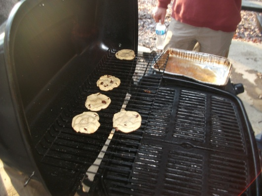 Grilling Cookies at the MLK Ride
