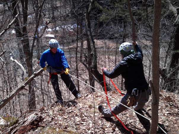 Michell Rappelling at Adventure Racing Camp