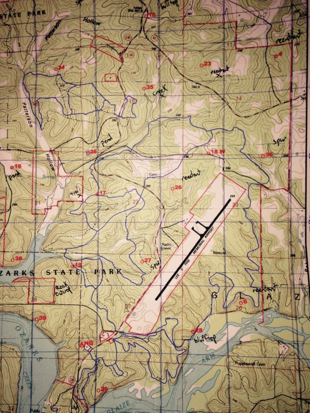 Parital Map for the Perfect 10 Rogaine Orienteering Race