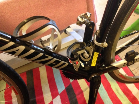 destroyed water bottle cage
